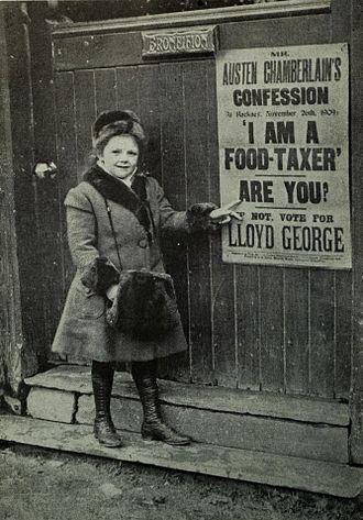 Megan Lloyd George - Megan in 1910 aged 7