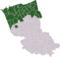 Carte: localisation du Blootland dans l'arrondissement de Dunkerque