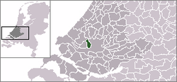 Location of Schiedam within the Netherlands