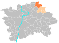 Location map municipal district Prague - Čakovice.PNG