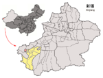 Location of Shufu within Xinjiang (China).png