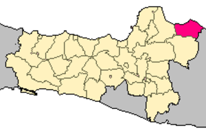 Rembang Regency - Locator map of Rembang Regency in Central Java Province on Java.