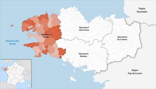 Lage des Finistère