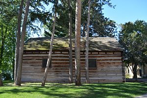 Log Chapel, University of Notre Dame - Log Chapel, side