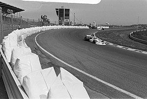 Lella Lombardi - Lella Lombardi driving a March 751 Formula One car in practice for the 1975 Dutch Grand Prix
