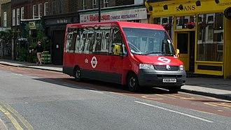 Mellor Tucana - Image: London Dial a Ride D7005 YX08 FKP