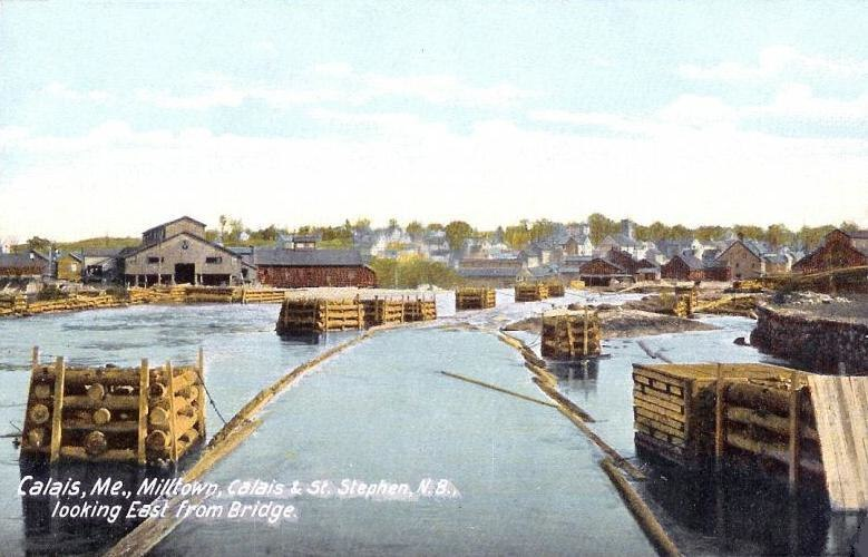 Looking East from Bridge, Calais, ME