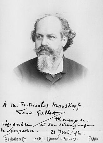 Louis Gallet - Louis Gallet in 1892