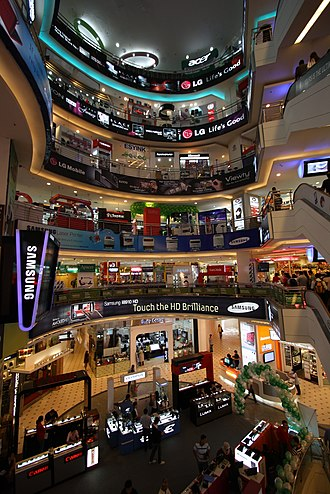 Plaza Low Yat - The interior of the shopping centre.