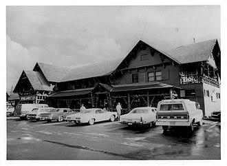Old Faithful Historic District - Image: Lower Hamilton Store Weaton 1980