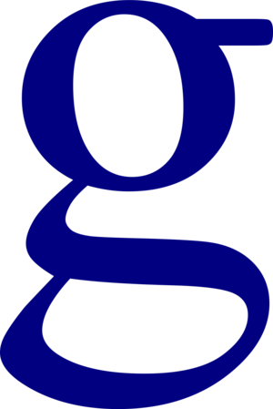 """Lowercase letter """"g"""".png"""