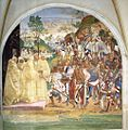 Luca Signorelli - Life of St Benedict, Scene 28 - Benedict Recognizes and Receives Totila - WGA21275.jpg
