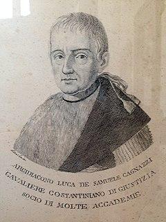 Luca de Samuele Cagnazzi Italian politician, economist and presbyter (1764–1852)