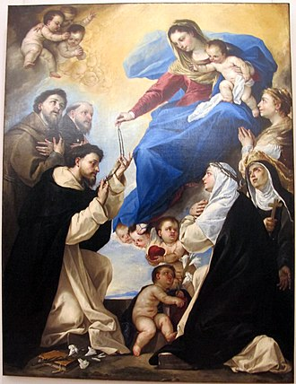 Our Lady of the Rosary - Image: Luca giordano, madonna del rosario, 1657, Q492