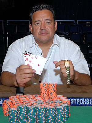 Luis Velador - Velador after winning at the 2008 World Series of Poker.