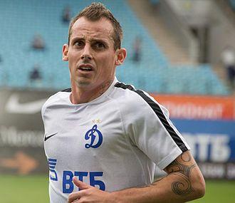 Luke Wilkshire - Wilkshire playing for Dynamo Moscow in 2016