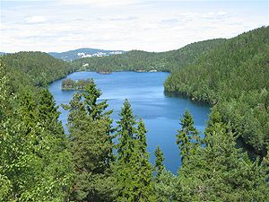 Flytoget - Lake Lutvann was partially drained due to construction problems during the digging of the Romerike Tunnel