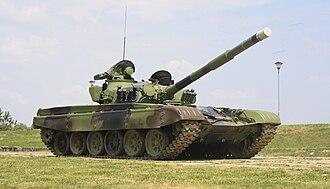 Serbian Army - M-84 main battle tank