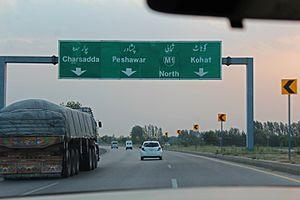 M1 motorway (Pakistan) - M1 motorway westbound towards Peshawar.