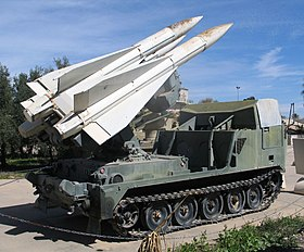 Un M727 Guided Missile Equipment, con tre missili HAWK