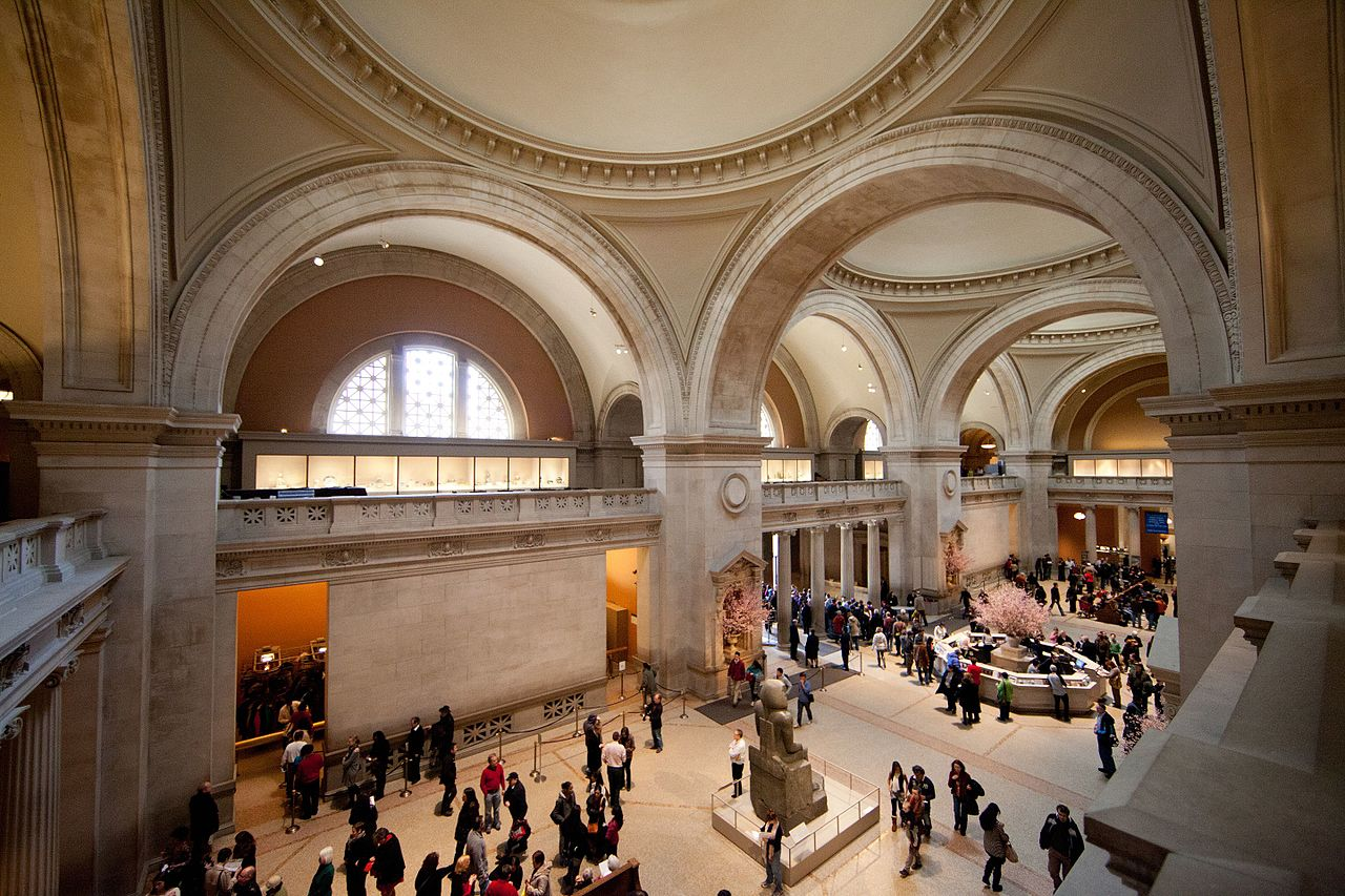 Foyer Museum York : File met the great hall metropolitan museum of art