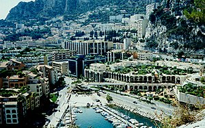 Looking towards La Colle from Monaco-Ville, in 1995