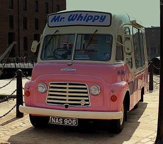 Karrier - 1961 Karrier van; Mr. Whippy Ice Cream—original at the Albert Dock Liverpool, UK in May 2013
