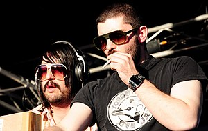 MSTRKRFT - Keeler and Al-P performing in Perth (2009)