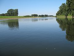River Meuse, a few kilometers south of Maaseik