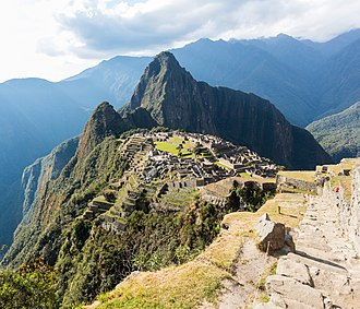 The Inca estate of Machu Picchu, Peru is one of the New Seven Wonders of the World. Machu Picchu, Peru, 2015-07-30, DD 39.JPG