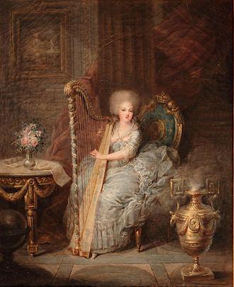 Élisabeth of France (1764–1794) - Madame Elisabeth with harp