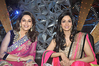 Sridevi - Sridevi with her arch-rival of the 1990s, Madhuri Dixit