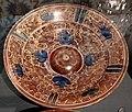 Maiolica ispano-moresca, piatto a lustro, xvii secolo 02.jpg