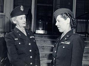 Maude C. Davison - Maj Maude Davison and Lt Eunice Young