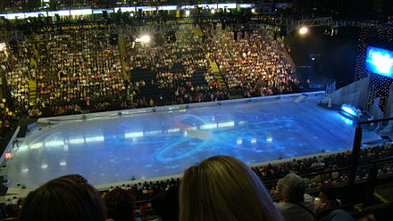 The arena in ice skating configuration Manchester Arena skating.jpg