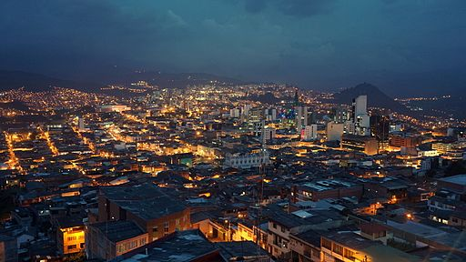 Manizales city center at dawn