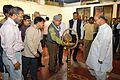 Manoj Mitra - Inaugural Lamp Lighting - Atanu Ghosh Solo Exhibition - Kolkata 2013-12-05 4730.JPG
