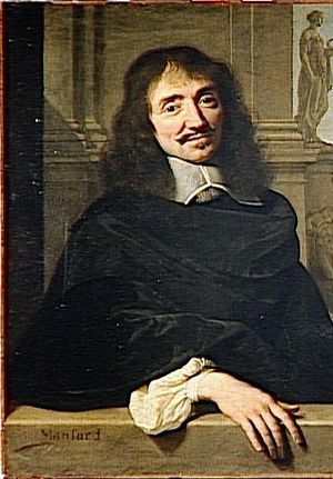 François Mansart - François Mansart, detail of a double portrait of Mansart and Claude Perrault, by Philippe de Champaigne
