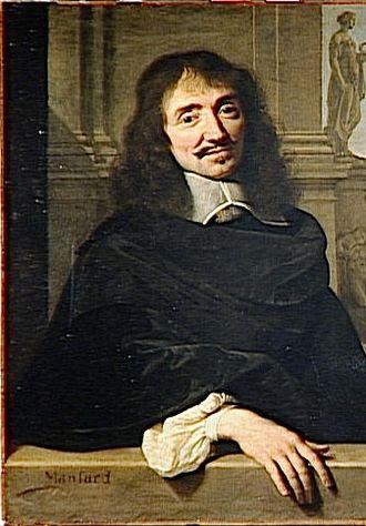 François Mansart - François Mansart, detail of a double portrait of Mansart and Claude Perrault, by Philippe de Champaigne
