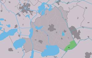 Rotstergaast - Image: Map NL Skarsterlân Rotstergaast