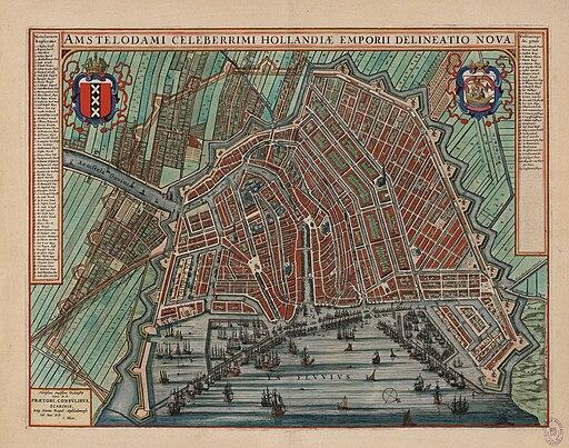 Map of Amsterdam - Amstelodami Celeberrimi Hollandiae Emporii Delineatio Nova (J.Blaeu, 1649)