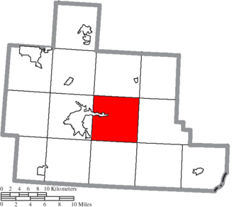 Canaan Township, Athens County, Ohio - Image: Map of Athens County Ohio Highlighting Canaan Township