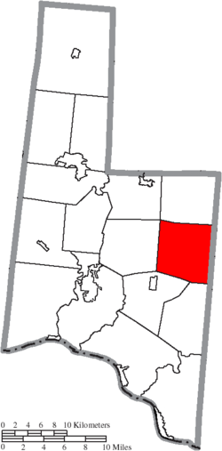 Location of Jackson Township in Brown County