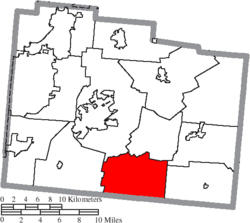Location of Caesarscreek Township in Greene County