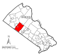 Map of Hilltown Township, Bucks County, Pennsylvania Highlighted.png