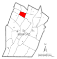 Map of King Township, Bedford County, Pennsylvania Highlighted.png