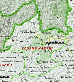 Map of Luang Namtha Province