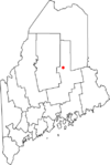 Map of Maine highlighting Millinocket.png