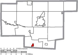 Prospect, Ohio - Image: Map of Marion County Ohio Highlighting Prospect Village