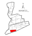 Map of Northumberland County Pennsylvania Highlighting Jordan Township.PNG
